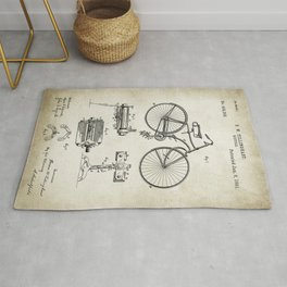 Bicycle Patent Drawing Rug