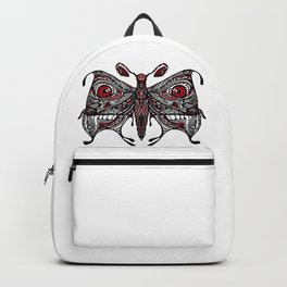 Demonic looking Moth that would look great as a lower back tattoo Backpack