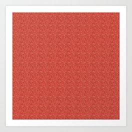 Glittery Cherry Red Art Print