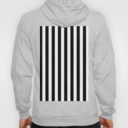 Stripes Black and White Vertical Hoody