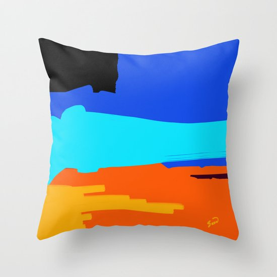 Abstract Night Fall on the Beach Throw Pillow
