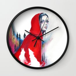 What big eyes you have - ink illustration Wall Clock