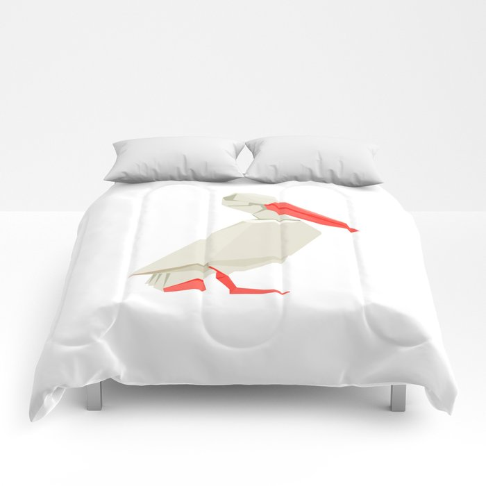Origami Pelican Comforters By Staskhabarov Society6
