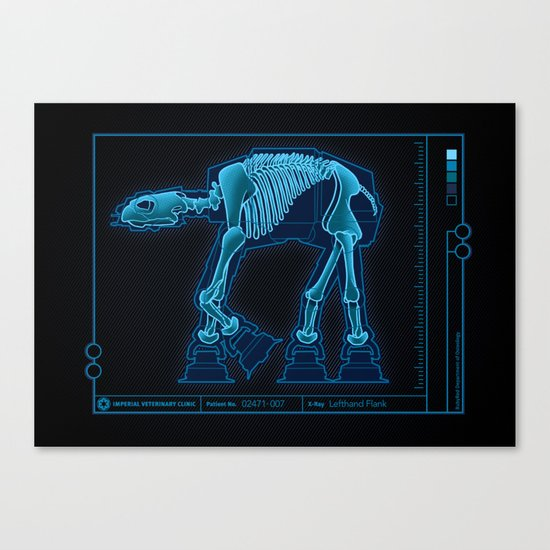 At-At Anatomy Canvas Print