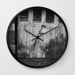 Keep Clear At All Times Wall Clock
