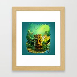 Encounter At The Cove Framed Art Print