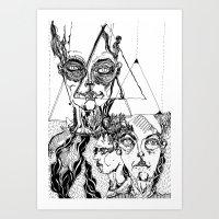 sandra dieckmann Art Prints featuring sandra by Valeria Pomidoro