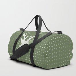Green Deer Abstract Footprints Landscape Design Duffle Bag