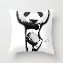 James Panda Throw Pillow