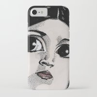 princess leia iPhone & iPod Cases featuring Leia by Drawn by Nina