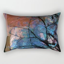 Blue Tree Rectangular Pillow