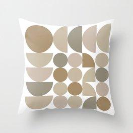 Midcentury Circles Throw Pillow