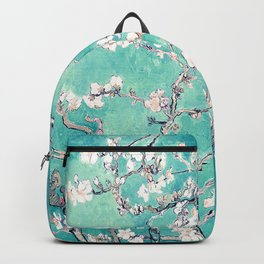 Vincent Van Gogh Almond Blossoms Turquoise Backpack