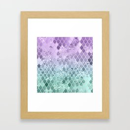 Mermaid Glitter Scales #1 #shiny #decor #art #society6 Framed Art Print