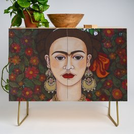 Frida with butterflies Credenza
