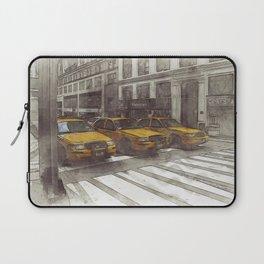 NYC Yellow Cabs Radio Shack - SKETCH Laptop Sleeve