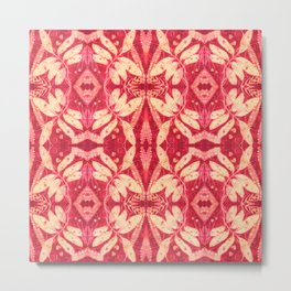 Red Kaleidoscope Metal Print