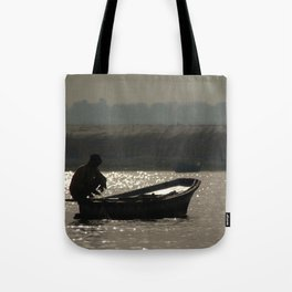 Perched on a Boat Tote Bag