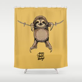 Hang in There Baby Sloth Shower Curtain