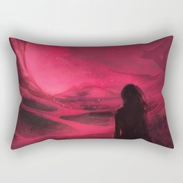 Pink plains Rectangular Pillow