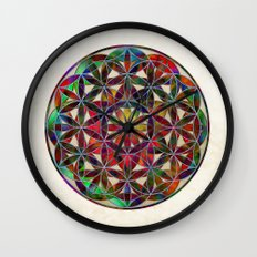 Flower of Life variation Wall Clock