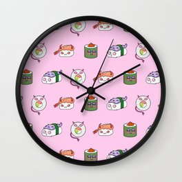 SUSHI PATTERN Wall Clock