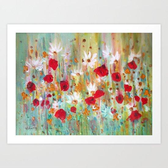 A summer meadow Art Print