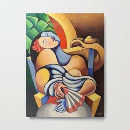 La siesta, The nap. Miguez Art Metal Print