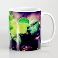 clover Mugs featuring Clover by Sushibird
