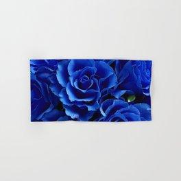 Blue Roses Flowers Plant Romance Hand & Bath Towel