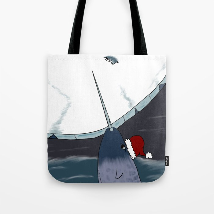 A Narwhal For Christmas Tote Bag