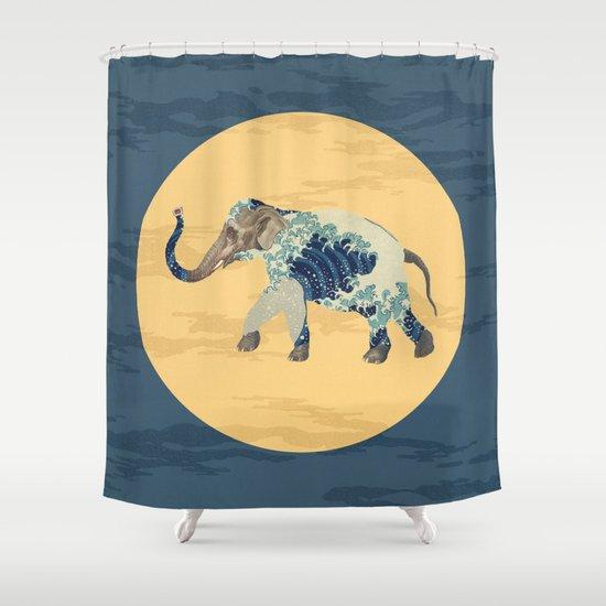 Elephant Polka Shower Curtain