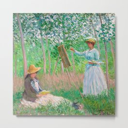 In the Woods at Giverny by Claude Monet, 1887 Metal Print