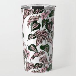 Pink and Green indoor Plant Caladium - home decor Travel Mug