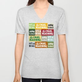 Global Warming Hoax Unisex V-Neck