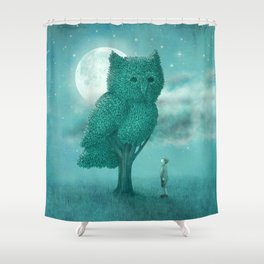 The Night Gardener - Cover Shower Curtain