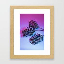 Seapunk Palm Leaves, Palm Leaf, Palm Tree Lover, 80s vibes Framed Art Print