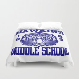 hawkins middle school Duvet Cover