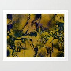 Cyber Dancer Gold Art Print
