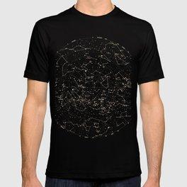 Constellations Map, Stars, Astronomy Cosmos Galaxy T-shirt