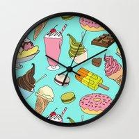 dessert Wall Clocks featuring Dessert Explosion! by TinyBee
