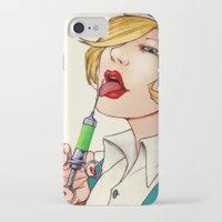 nurse iPhone & iPod Cases featuring Poison Nurse by José A. Gómez