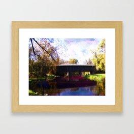 The Covered Bridge Framed Art Print