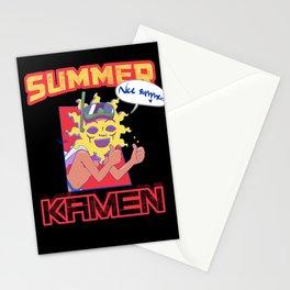 Summer Kamen black Stationery Cards
