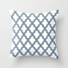 Navy Moroccan Throw Pillow
