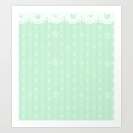 Kawaii Green Art Print