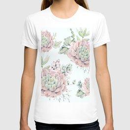 Pink Echeveria #society6 #buyart T-shirt