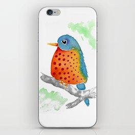 Polka Dot Bluebird iPhone Skin