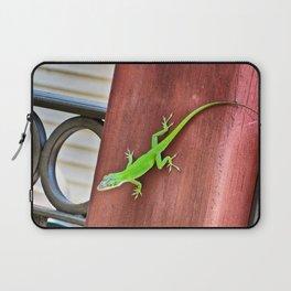 Green Anole Laptop Sleeve