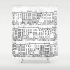 blocks of Brooklyn Shower Curtain